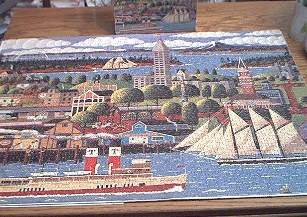 HOMETOWN 1000 COLLECTION JIGSAW PUZZLE~HERONIM WYSOCKI~SEATTLE WASHINGTON~HAS ALL PCS~SHIPS