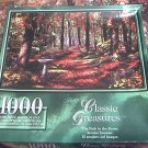 CLASSIC TREASURES JIGSAW PUZZLE~PATH IN FOREST~1000 PCS~COMPLETE~PRETTY WOODS