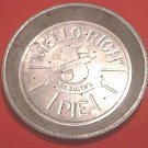 Vintage MRS. SMITHS MELLO-RICH Pie Tin Plate Pan~Bakeware~Advertising~Metal~Great for Decor!