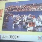M BRADLEY BIG BEN JIGSAW PUZZLE ~1000 PCS~RIVIERA di PONENTE, ITALY~BOATS~COMPLETE