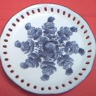 BLUE AND WHITE CUTWORK RIBBON PLATE ~SPIRAL FLORAL DESIGN~CHINA~PRETTY