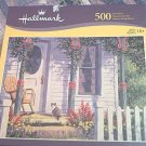 HALLMARK 500 PC JIGSAW PUZZLE ~ PORCH - CAT -ROCKER SPRING SHADOWS~COMPLETE~VAN BEEK
