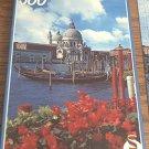 SCHMIDT JIGSAW PUZZLE ~VENICE, ITALY ~GONDOLAS, ST. MARKS, FLOWERS~COMPLETE 500