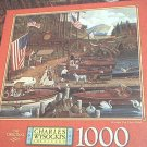 M BRADLEY JIGSAW PUZZLE ~CHARLES WYSOCKI~WOODEN YOU LIKE A RIDE?~COMPLETE