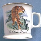 A CLOSE SHAVE TIGER SHAVING MUG ~MADE IN JAPAN~GOLD TRIM