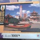 M BRADLEY BIG BEN JIGSAW PUZZLE ~TAIPEI TAIWAN~PAGODAS SKYSCRAPERS~COMPLETE