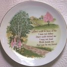 PAULA HEIRLOOM EDITIONS FRIEND POEM PLATE ~1984 JAPAN