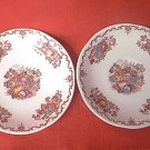 2 FRANCISCAN FRUIT BASKET SAUCERS ~ENGLISH IRONSTONE