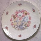 ROYAL DOULTON VALENTINE'S DAY PLATE 1977 ~ROSES~POEM~GOLD TRIM~LOVELY