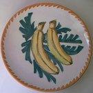 ITALIAN POTTERY BANANA PLATE ~hand painted