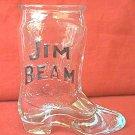 JIM BEAM WHISKEY ADVERTISING SHOT GLASS BOOT