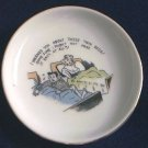 VINTAGE JAPAN NAUGHTY COASTER SMALL DISH ~TWIN BEDS~GOLD TRIM