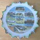 HEMISFAIR 68 WORLD'S FAIR SOUVENIR PLATE ~JAPAN~ALAMO, TEXAS PAVILION,SAN ANTONIO~GOLD