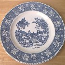 VINTAGE SHAKESPEARE COUNTRY DINNER PLATE ~STRATWOOD COLLECTION~HOMER LAUGHLIN~BLUE/WHITE