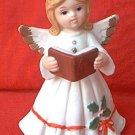 LEFTON CHRISTMAS ANGEL FIGURINE ~1987~#06327 ~HOLLY~BOOK