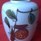 VINTAGE JAPANESE VASE ~6 IN~APPLE~HAND PAINTED~PRETTY