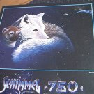 M BRADLEY SCHIMMEL JIGSAW PUZZLE ~A WATCHFUL EYE~750 PC--WOLF~DOG~PUP~COMPLETE