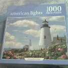 CEACO AMERICAN LIGHTS JIGSAW PUZZLE ~PEMAQUID POINT LIGHTHOUSE~MAINE~BUTTERFLY~BIRD~FLOWERS~COMPLETE