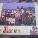 M BRADLEY BIG BEN JIGSAW PUZZLE~ OLD TOWN PRAGUE, CZECH REPUBLIC~COMPLETE