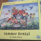SUNSOUT JIGSAW PUZZLE ~LINDA PICKEN~SUMMER RENTAL~COMPLETE~HARD TO FIND~BIRDS~CAT