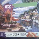 M BRADLEY EZ GRASP JIGSAW PUZZLE ~BY THE RIVER~COMPLETE~300 LARGE PIECES~BOATS~SAM PARK