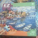 M BRADLEY EZ GRASP JIGSAW PUZZLE ~ITALIAN LAKES II~COMPLETE~300 LARGE PIECES~JULIAN ASKINS