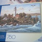 PUZZLE COLLECTION 750 PC JIGSAW PUZZLE ~KLAUS STRUBEL~MIDSUMMER BREEZE~COMPLETE~LIGHTHOUSE
