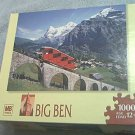 M BRADLEY BIG BEN JIGSAW PUZZLE ~MOUNTAIN RAILWAY SWITZERLAND~FACTORY SEALED~NEW