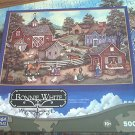 MEGA JIGSAW PUZZLE ~BONNIE WHITE~FRESH PRODUCE~FARM~HORSE~CHICKENS~COMPLETE