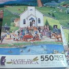 CEACO MADE IN AMERICA JIGSAW PUZZLE ~BOB PETTES~SPRINGTIME WEDDING~COMPLETE