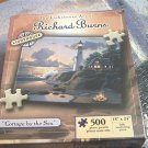 RICHARD BURNS LIGHTHOUSE JIGSAW PUZZLE ~COTTAGE BY THE SEA~COMPLETE