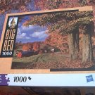 M BRADLEY BIG BEN JIGSAW PUZZLE ~SOUTH READING VERMONT USA~COMPLETE~FALL LEAVES