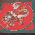 CURRENT 1990 CHRISTMAS MAGIC ROUND JIGSAW PUZZLE ~SANTA~COMPLETE