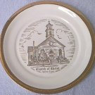 COMMEMORATIVE CHURCH OF CHRIST PLATE ~GURNEE, ILLINOIS~SABINA~22K GOLD