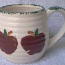 APPLE MUG--MADE IN CHINA--SPONGED GREEN TRIM--NICE