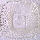VINTAGE GLASS DISH ~SMALL~ DIAMOND DESIGN~CLEAR~RETRO