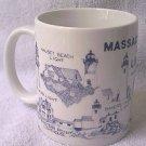 MASSACHUSETTS COAST LIGHTHOUSES MUG ~BOSTON LIGHT-GRAVES LIGHT +++