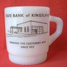ANCHOR-HOCKING FIRE-KING ADVERTISING MUG ~STATE BANK OF KINGSLAND (GEORGIA)