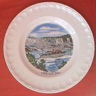MAID OF THE MIST NIAGARA FALLS, CANADA SOUVENIR PLATE ~BRAZIL PORTO FERREIRA ~COLORFUL