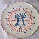 S.A.R. 1989 COMMEMORATIVE PLATE ~SONS OF AMER REV~LIBERTY BELL~13 STARS~GOLD