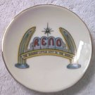 RENO NEVADA SMALL SOUVENIR PLATE ~ 3.25 INCH ~JAPAN