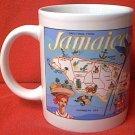 JAMAICA SOUVENIR MUG ~HUMMINGBIRD~HIBISCUS~OUTLINE~PRETTY