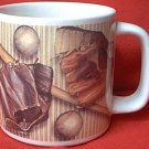 BIG BASEBALL MUG ~RUSS BERRIE~BALL-MITT-BAT-FACE GUARD-GLOVES-GREAT GIFT