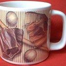 BIG BASEBALL MUG ~RUSS BERRIE~BALL-MITT-BAT-FACE GUARD-GLOVES-GREAT GIFT