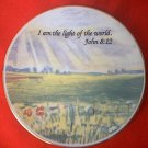 RELIGIOUS INSPIRATIONAL SMALL COLLECTOR PLATE ~LIGHT OF THE WORLD JOHN 8:12~PRETTY