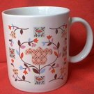 TULIP AND VINE QUILT PATTERN MUG  ~JAPAN