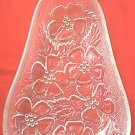 VINTAGE PEAR SHAPE CLEAR GLASS DISH ~ FLOWERS~PRETTY
