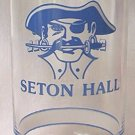 GETTY PROMOTIONAL PREMIUM GLASS TUMBLER ~SETON HALL~BIG EAST BASKETBALL~PIRATE