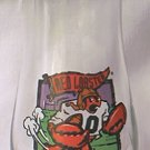 RED LOBSTER TAIL BACK PROMOTIONAL ADVERTISING GLASS ~FOOTBALL