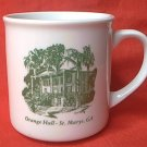 ORANGE HALL SOUVENIR MUG ~ST. MARYS GA. ANTEBELLUM GEORGIAN